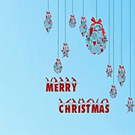 Merry Christmas Solid Classical Window StickerPVC/Vinyl Material Window Decoration