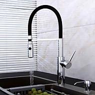 spray de arrancamento centerset com válvula de cerâmica única alça de um buraco por cromo, torneira da cozinha