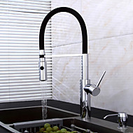 centerset rozkládací sprej s keramickým ventilem jedinou rukojetí jeden otvor pro chrom, kuchyňské baterie