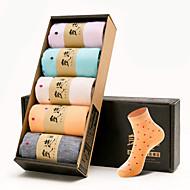 נשים גרביים של קופסה של 5 זוגות גרב