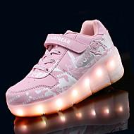 Sneakers-PU-Komfort Light Up Sko-Drenge-Rosa Grå Marineblå-Fritid-Flad hæl
