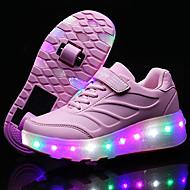 Jenter-PU-Lav hæl-Komfort Light Up Sko-Treningssko-Friluft Sport Fritid-Svart Blå Rosa