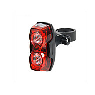 Kerékpár hátsó lámpa hátsó lámpák LED Kerékpározás Vízálló Szuper könnyű AAA Lumen Akkumulátor Kerékpározás