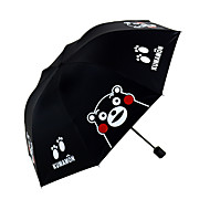 Preta Guarda-Chuva Dobrável Sombrinha Plastic Carrinho