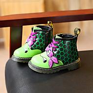 Bebê Para Meninas-Botas-Conforto-Salto Baixo-Verde Vermelho Prateado-Microfibra-Casual