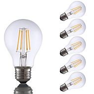 6W E26 LED Filament Bulbs A19 4 COB 700 lm Warm White Dimmable 120V 6 pcs