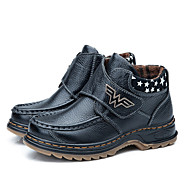 Boy's Boots Comfort Leather Casual Black Blue Brown Yellow