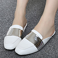 Women's Clogs & Mules Summer Slingback PU Casual Flat Heel Others Black / White Others