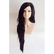 De luxo kardashian longo preto resistente ao calor celebridade peruca de moda