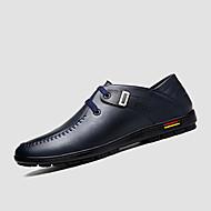 Kényelmes-Lapos-Női cipő-Félcipők-Alkalmi-PU-Fekete Kék Barna