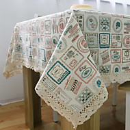 Korean Style Square Patterned Placemat  Linen Material Hotel Dining Table / Table Decoration