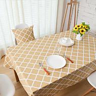 ריבוע משבצות כיסויי שולחן , פשתן חוֹמֶר שולחן אוכל במלון / שולחן Dceoration