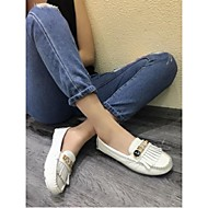 Women's Loafers & Slip-Ons Moccasin Cowhide Casual Black White