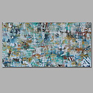 Hand-Painted Abstract / Landscape 100% Hang-Painted Oil PaintingMediterranean / European Style One Panel Canvas Oil Painting For Home Stretchered