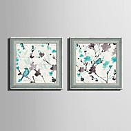 Kwiatowy/Roślinny / Zvířecí motivy Oprawione płótno / Zestaw w oprawie Wall Art,PVC (polichlorek winylu) Materiał SzaryNie zawiera
