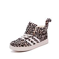 Kényelmes-Lapos-Női cipő-Csizmák-Szabadidős / Alkalmi-Fordított bőr-Barna