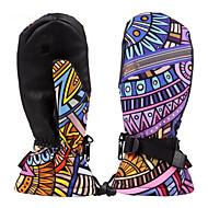 Ski-Handschuhe Vollfinger Damen Sporthandschuhewarm halten Wasserdicht Windundurchlässig Feuchtigkeitsdurchlässigkeit Atmungsaktiv