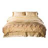 shuian® luxusní žakárové hedvábí bavlna míchat 4ks peřinu postel list povlak na polštář ložní prádlo