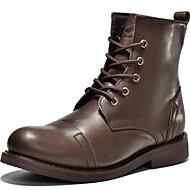 Masculino-Botas-ConfortoPreto / Marrom-Napa Leather-Ar-Livre / Escritório & Trabalho / Casual / Festas & Noite