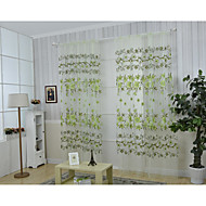 One Panel Curtain Country , Flower Living Room Polyester Material Curtains Drapes Home Decoration For Window