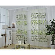 Jeden panel Window Léčba Země , Květiny Obývací pokoj Polyester Materiál záclony závěsy Home dekorace For Okno