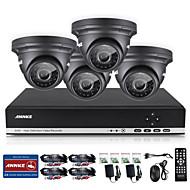 ANNKE® 4CH CCTV Camcorder Set AHD DVR 4PCS 720P IR Outdoor Home Security Camera Surveillance System Kit
