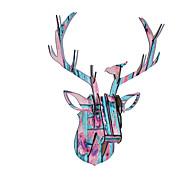 Karácsonyi ajándékok díszek fa állat fejegység szarvas fejét lóg
