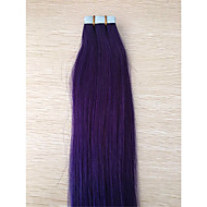 2,5 g / pc Βραζιλίας ombre γκρίζα μαλλιά επέκταση ταινία 1β / γκρι PU δέρμα υφάδι επέκταση ανθρώπινα μαλλιών