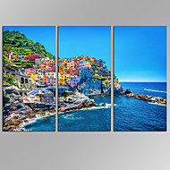 Canvas Set Abstracte landschappen Modern,Drie panelen Canvas Horizontaal Print Art wall Decor For Huisdecoratie