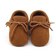 Для детей Девочки Дети Мокасины и Свитер Обувь для малышей Пинетки Флис Весна Осень Повседневные Обувь для малышей ПинеткиМиндальный