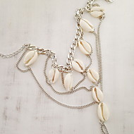 Dame Ankel/Armbånd Muslingeskal Skall Multi Layer Personalisert Mote Europeisk Smykker Til Daglig Avslappet Strand
