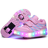 LED Light Up Shoes, Girl's Roller Skate Shoes / Ultra-light Two Wheel Skating Shoes / Athletic / Casual Shoes Black Pink