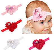 4 stk / sett søte babyen Valentinsdag hjerteformet bue babyen hår hode herlige barn hår tilbehør