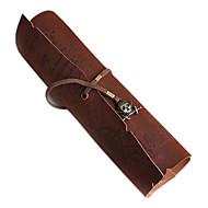 sacos de armazenamento do vintage rolo pirata caneta lápis caso pocket map pack compo o saco bolsa Caribe (cor aleatória)