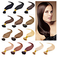 """16 """"-24"""" i tip prodlužování vlasů Brazilský panenské lidských prodlužování vlasů rozšíření 0,4-0,5 g / s prebonded vlasy 001"""