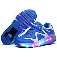 Mädchen-Sneaker-Outddor Lässig Sportlich-Leder-Niedriger Absatz-Komfort-Blau Rosa
