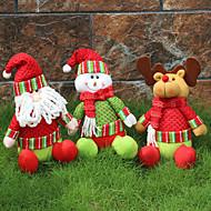 1kpl satunnainen kokoontaitettava kuuma myynti joulukoristeita joulupukki lumiukko christmas hahmoja