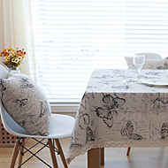 Square Animal / Patchwork Table Cloth , Linen Material Hotel Dining Table / Table Decoration