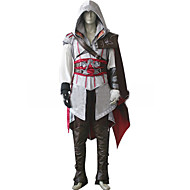 Inspired by Assassin Cosplay Video Game Cosplay Costumes Cosplay Suits Solid White / Black / Red Long SleeveCloak / Coat / Hakama pants /