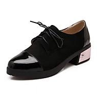 נשים-נעלי אוקספורד-דמוי עור עור פטנט-פלטפורמה נוחות חדשני-שחור כחול בז' בורגונדי-חתונה משרד ועבודה שמלה יומיומי מסיבה וערב-עקב עבה