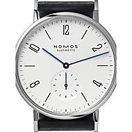 Heren Uniseks Modieus horloge Kwarts Japanse quartz / Leer Band Vrijetijdsschoenen Zwart Wit Zwart