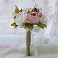 Svatební kytice Kulatý Růže Pivoňky Kytice Svatba Párty / večerní akce Polyester Satén Taft Krajka elastan imitace drahokamu16 cm (cca