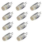G4 led mini kristalli valokeilan 1w siru kotiin chandlier 80-120 lm lämmin valkoinen / viileä valkoinen dc 12v (10 kpl)