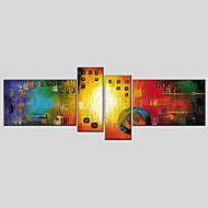 Pintados à mão Abstrato Pinturas Óleo Prints +,Moderno Clássico 4 Painéis Tela Pintura a Óleo For Decoração para casa