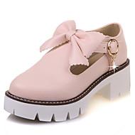 Femme Chaussures à Talons Mary Jane Similicuir Printemps Eté Automne Hiver Décontracté Habillé Soirée & Evénement Mary JaneNoeud