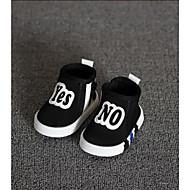 Fille Bébé-Décontracté-Noir RougePremières Chaussures-Bottes-Tissu