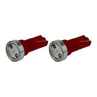 2X Red T5 1 COB LED Dashboard Licence  Plate Speed  Wedge Light  Car Blub D12V B003