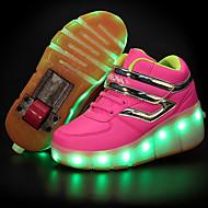 Para Meninas-Tênis-Conforto Light Up Shoes-Salto Baixo-Preto Azul Rosa Branco-Couro-Ar-Livre Casual Para Esporte