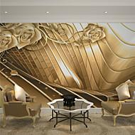 Art Deco / 3D Pozadina Za kuću Luksuzno Zidnih obloga , Canvas Materijal Ljepila potrebna Mural , Soba dekoracija ili zaštita za zid
