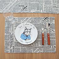 Carré Avec motifs / Mosaïque Sets de table , Coton mélangé Matériel Hôtel Dining Table / Tableau Dceoration